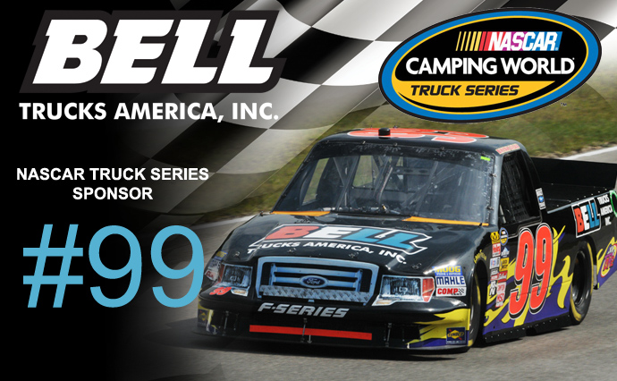 NASCAR Truck Series #99 Proudly Wears the Bell Trucks America Logo