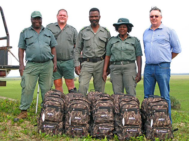 Afrimat, Bell Equipment, Rhino Conservation