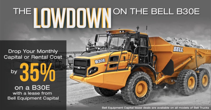 Special financing offer on the Bell B30E