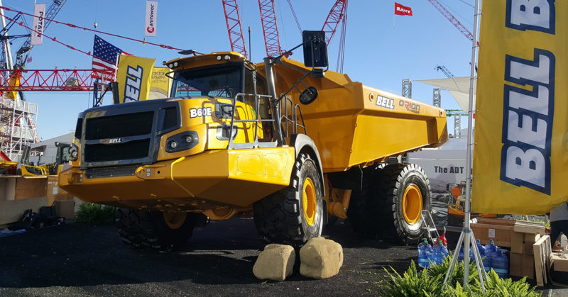 B60E on display at CONEXPO-AGG/CON 2017