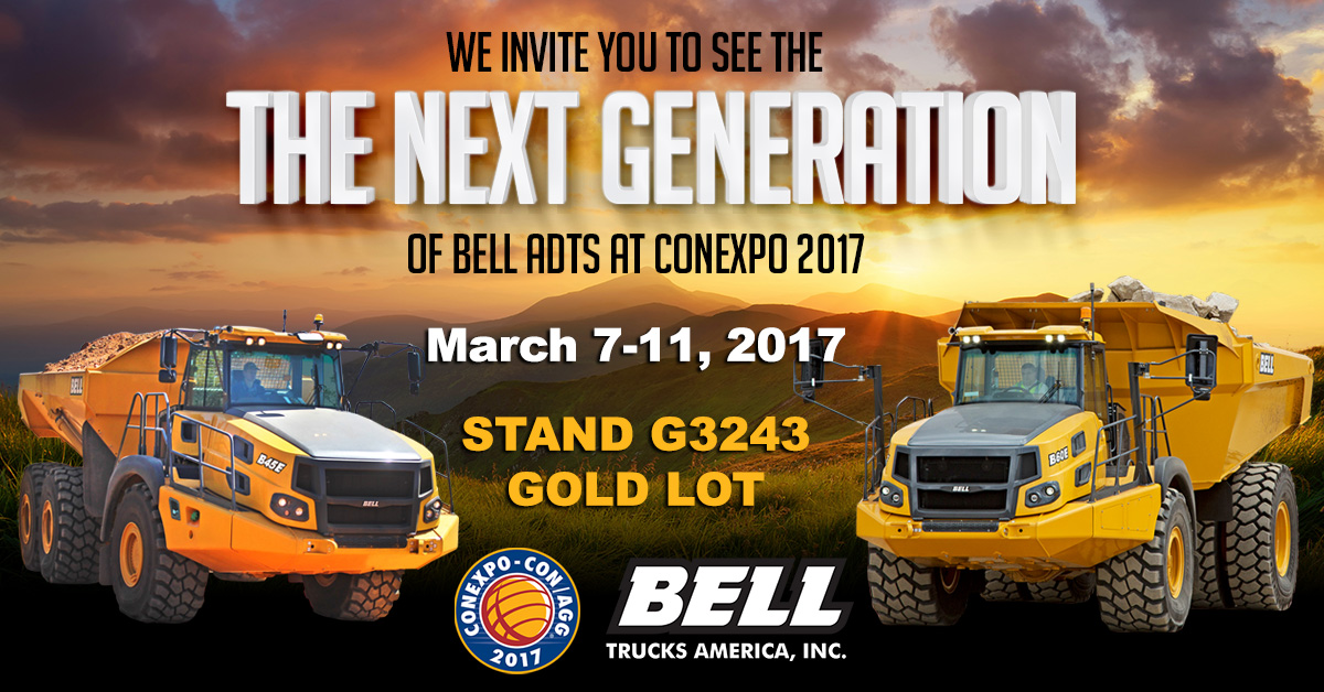 Bell Trucks America at ConExpo 2017