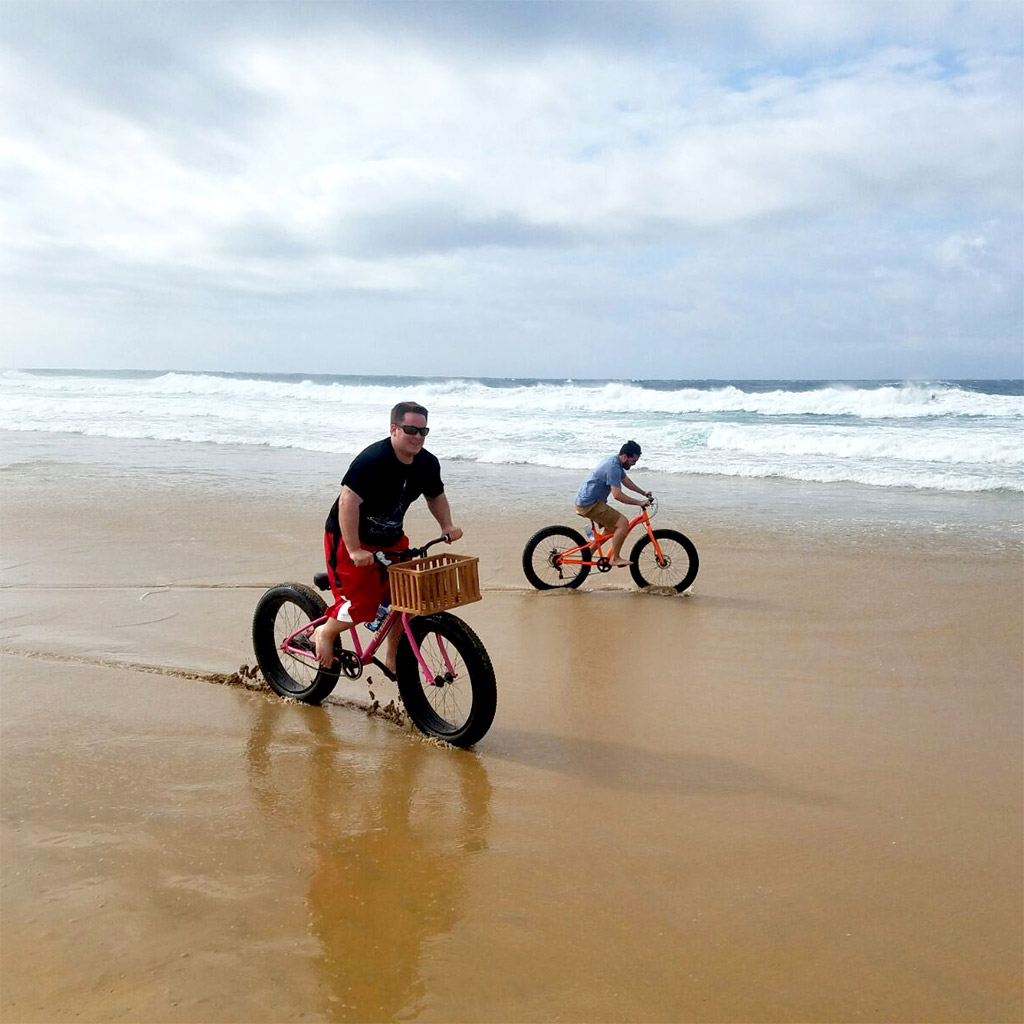 Beach Bike Riding, Anvil Bay, Mozambique, Africa