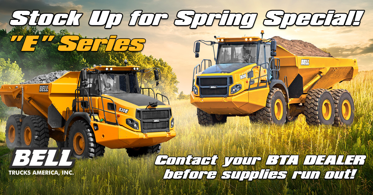Stock up for Spring - Special on E Series Articulated Dump Trucks