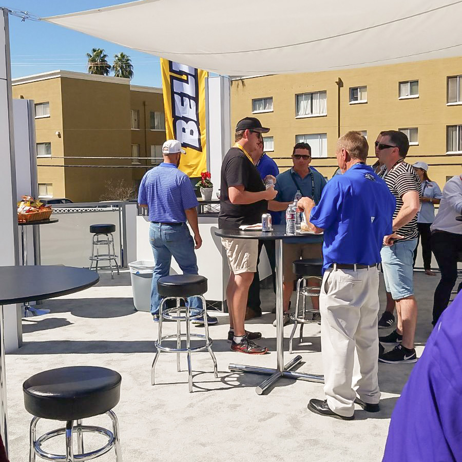 Roof top bar at our stand at CONEXPO-AGG/CON 2017
