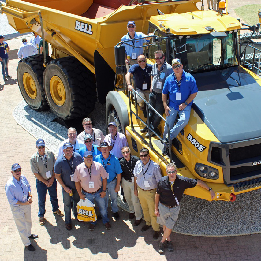 Bell Trucks America Dealers at Bauma South Africa 2015