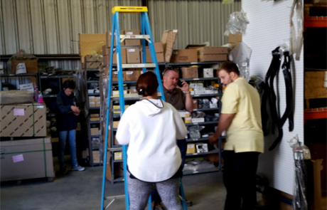BTA staff - inventory day in Houston